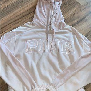 PINK Victoria's Secret Velvet Baby Pink Hoodie